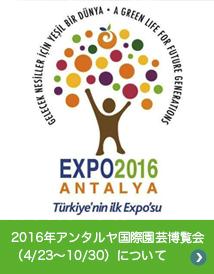 2016年アンタルヤ国際園芸博覧会(4/23〜10/30)について