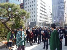 日枝神社の権宮司による竣工式の様子