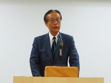 開会挨拶(都市緑化機構 輿水理事長)