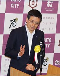 第一生命保険(株) 稲垣精二社長 祝辞
