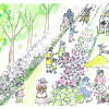 西公園を遊ぼうプロジェクト 花の歩話人(ほわっと)ロード西公園